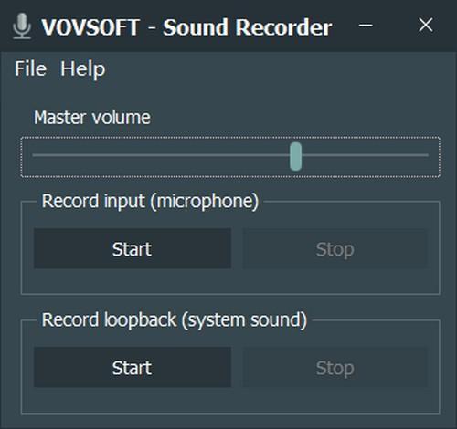 Vovsoft Sound Recorder(音频录制工具)官方版