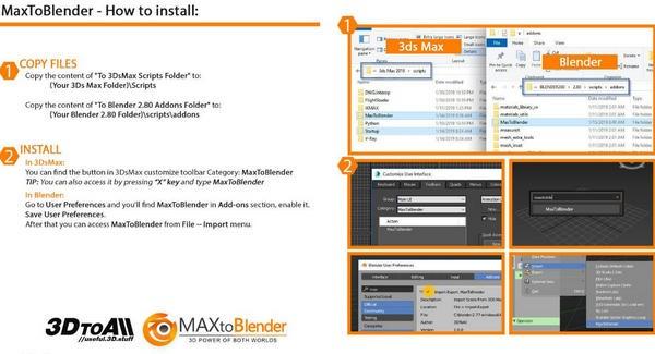 MaxToBlender(Max和Blender互导插件)